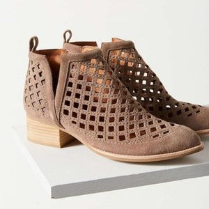 Jeffrey Campbell Brown Suede Perforated Booties